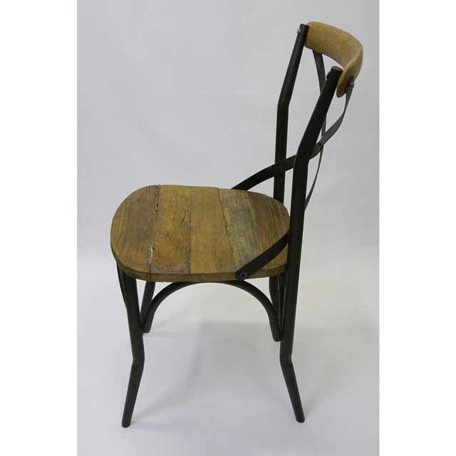 ... Rustic Metal Chairs By Vintage Look Dining Chair Rustic Cross Back ...