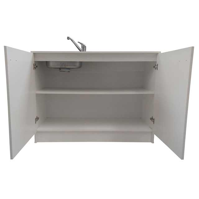 New 1200 kitchen sink mixer tap white base cabinet for Kitchen cabinets 1200mm