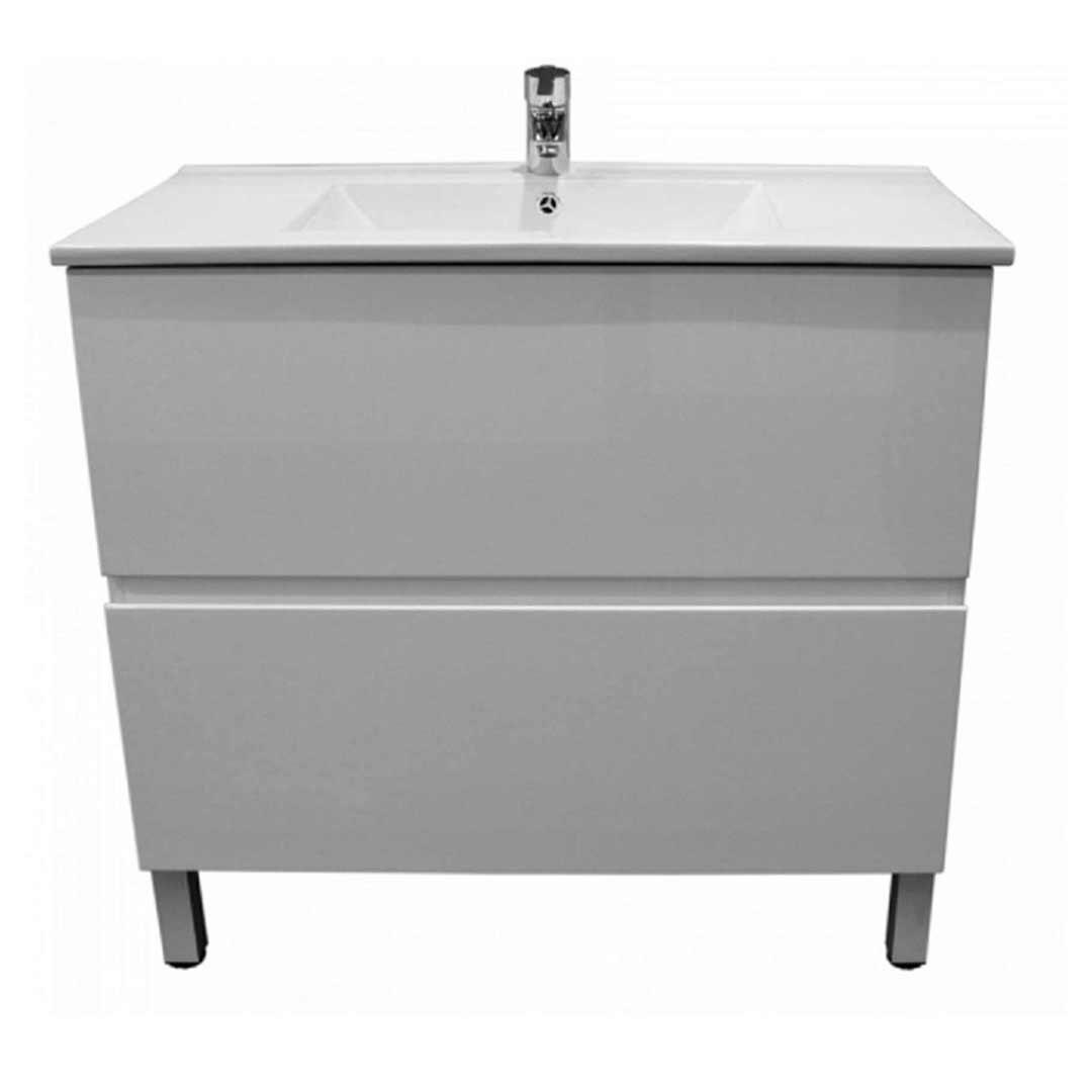 Kitchen Island Kickboard: Castano Firenze 750 2 Drawer Kickboard Gloss White Vanity