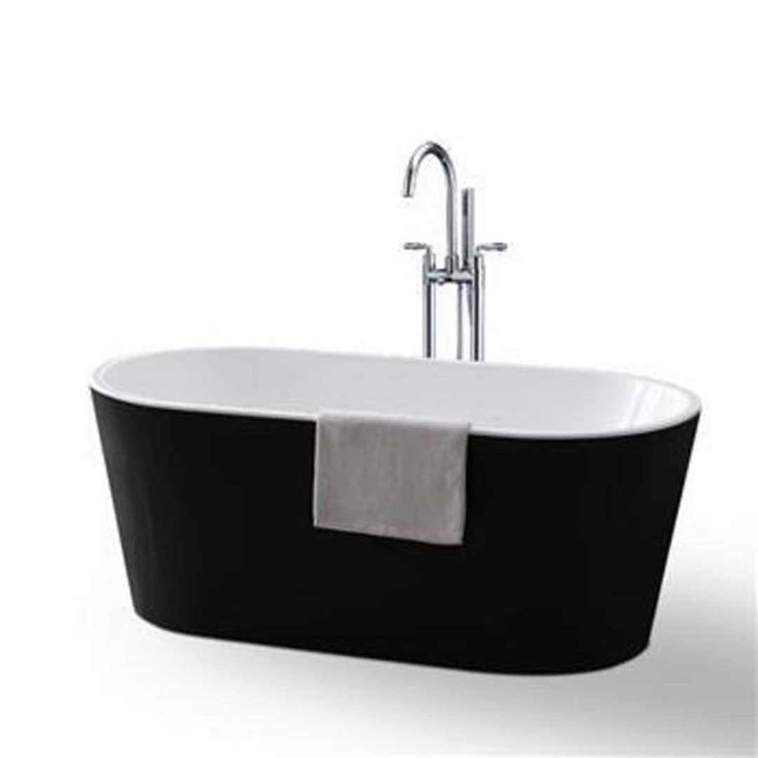 Ostar vu 816bw 170 oval freestanding bath tub arcylic 1700 for Wide tub