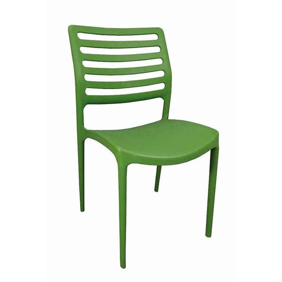 Louise Outdoor Stackable Dining Chair Green