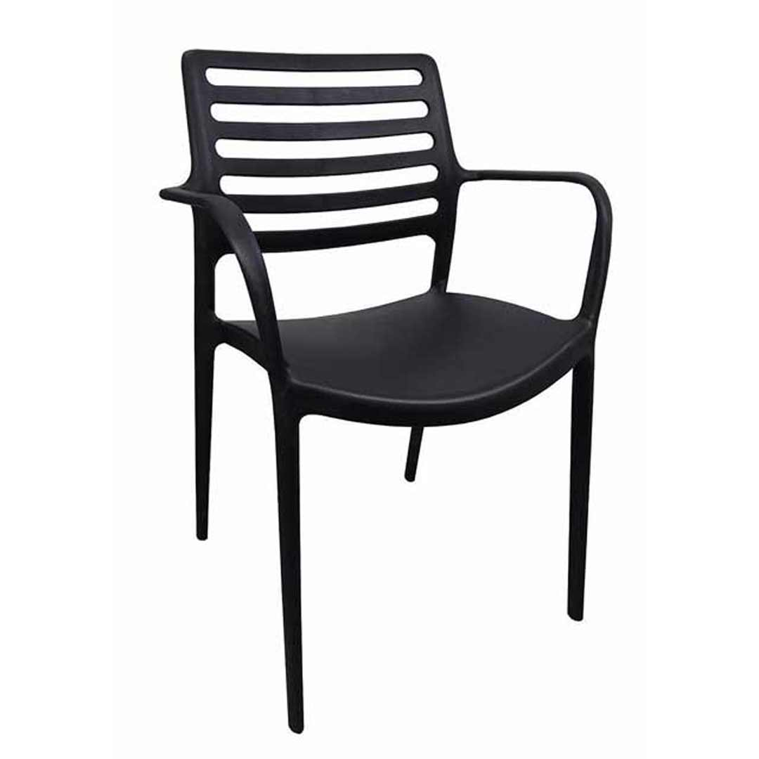 Louise Outdoor Stackable Dining Chair Black With Arms : CB0005 from www.swanstreet.com.au size 851 x 1200 jpeg 52kB