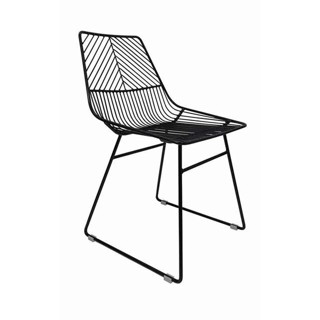 Sive Indoor Chair Replica Bend Wire Dining Chairs Black