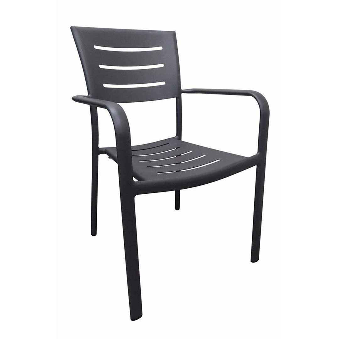 Robert Aluminium Outdoor Chair Dining Chairs Stackable Grey