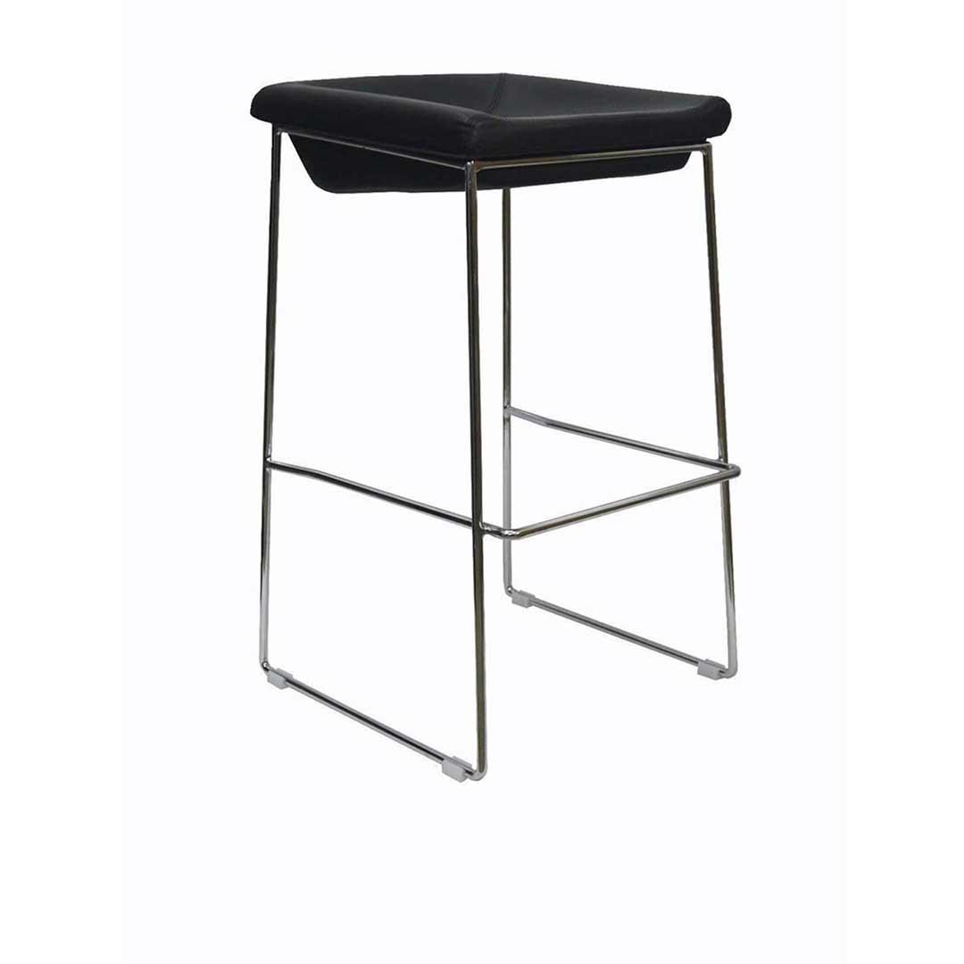 PIPPA BAR STOOL Chrome Frame Vinyl seat 750mm Black : CB1137 from www.swanstreet.com.au size 1200 x 1600 jpeg 60kB