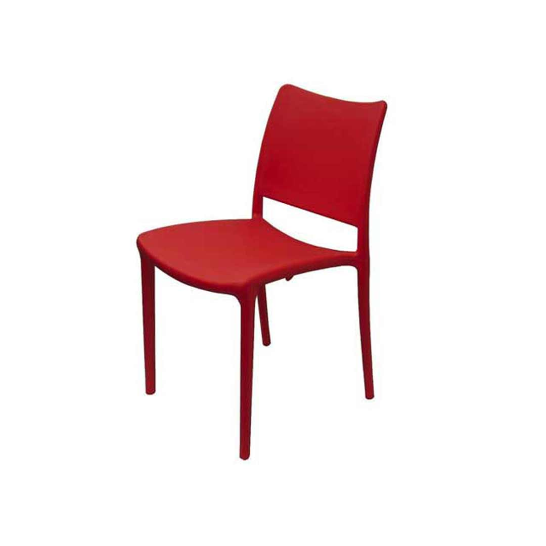 Inca Outdoor Cafe Plastic Chair Red