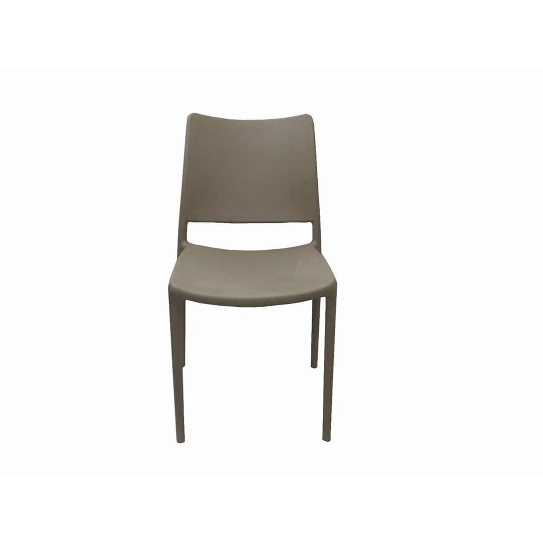 Inca Outdoor Cafe Plastic Chair Warm Grey