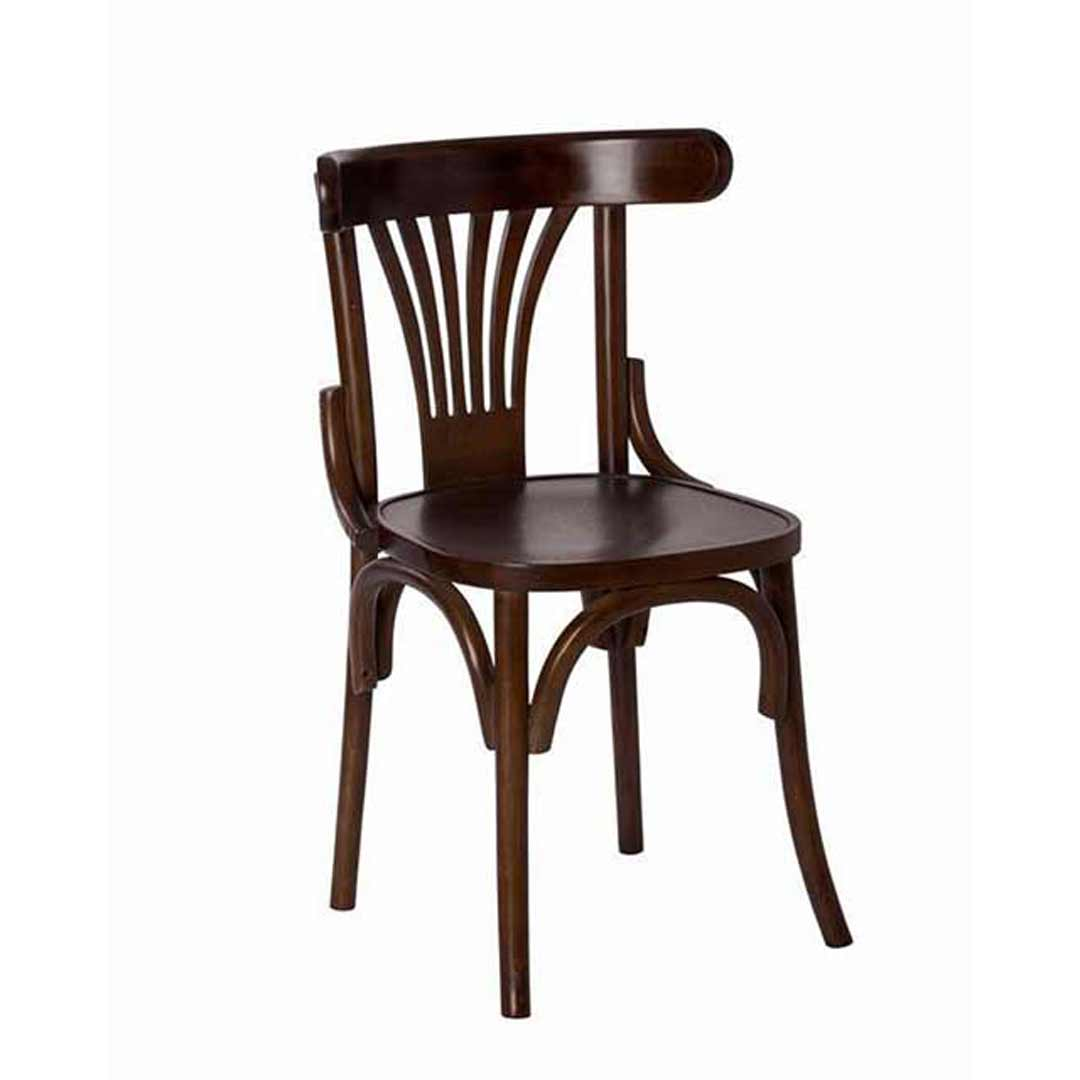 Cook Bentwood Timber Dining Side Chair Fan Back Brown