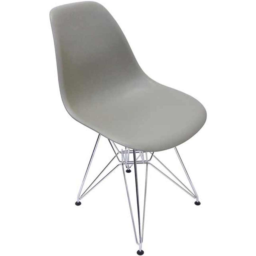 Ava Replica Eames DSR Dining Chair - Grey Grain