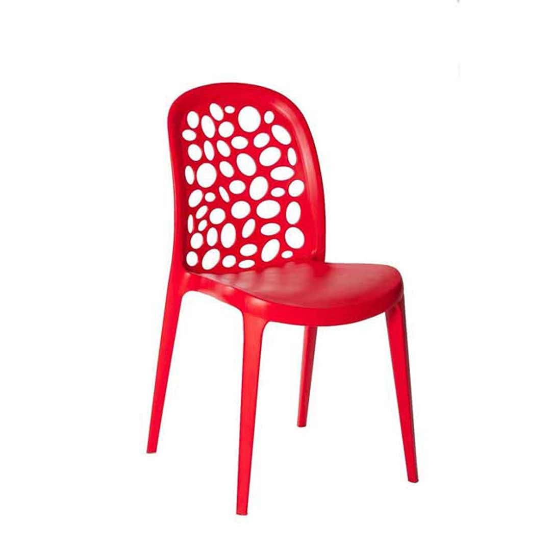 Grace Outdoor Stackable Dining Chair Red