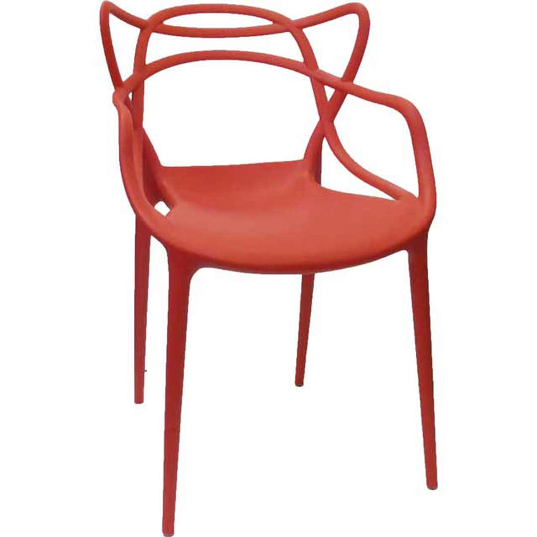 Line chair replica masters kartell by philippe starck with eugeni quitllet red for Philippe starck chair