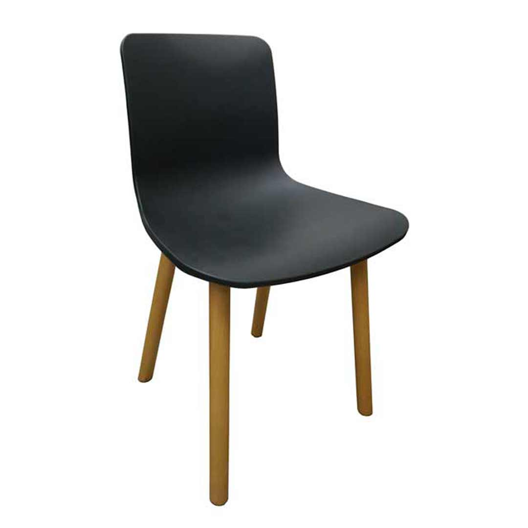 Hal Replica Jasper Morrison Cafe Dining Chair - Black