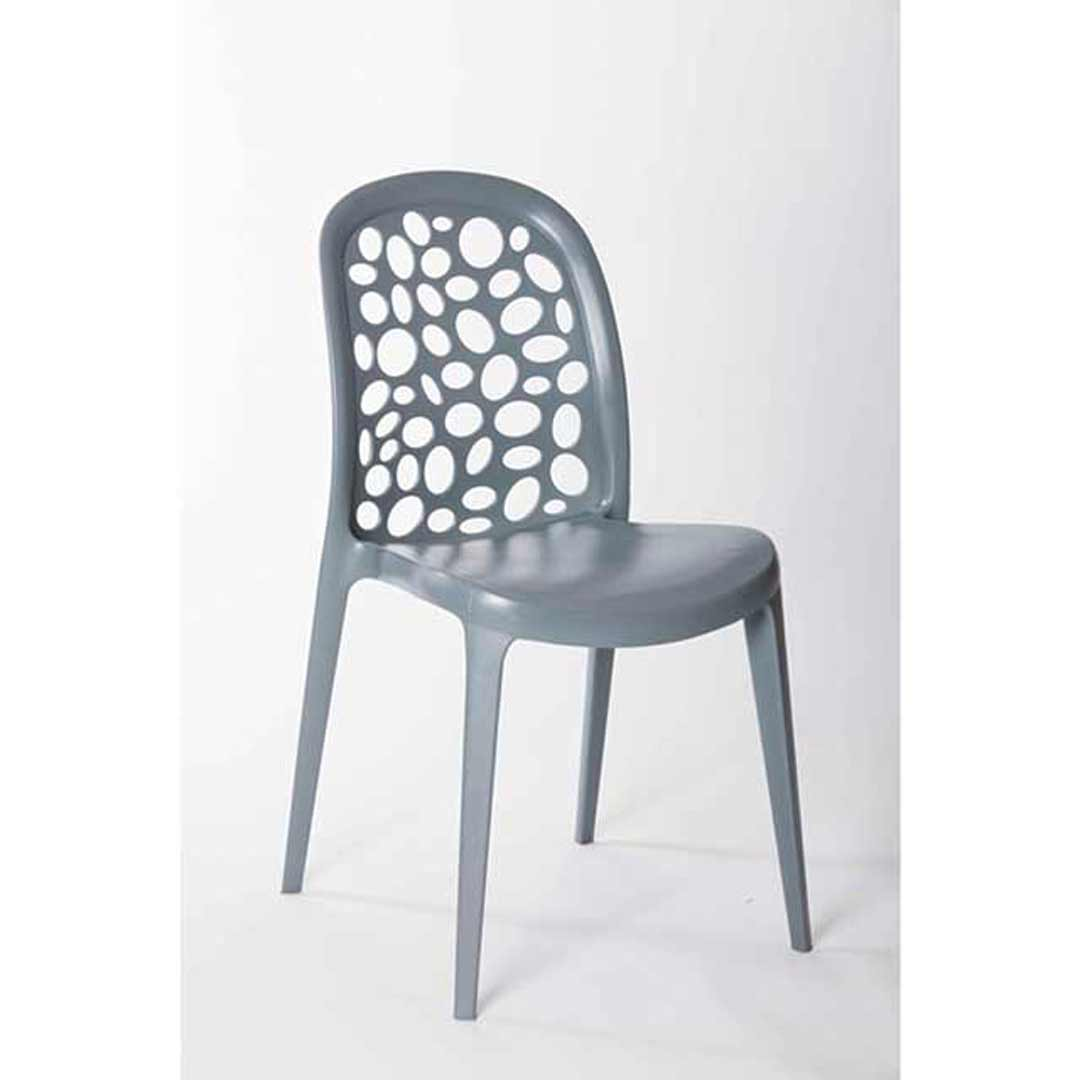 Grace Outdoor Stackable Dining Chair Grey