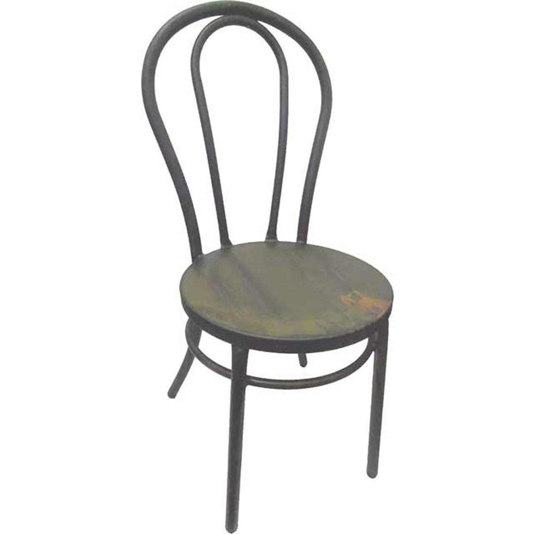 bentwood metal retro dining chair replica thonet coffee rust