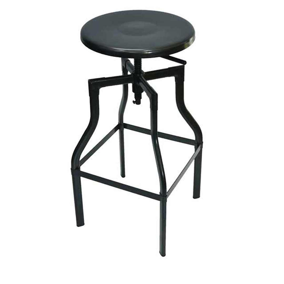 Industry Replica Turner Swivel Metal Bar Stool - Gun Metal 785mm