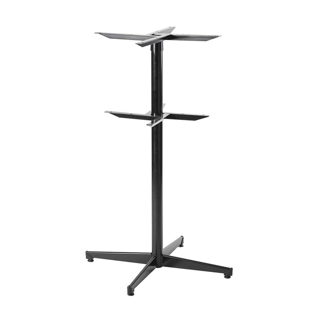 Black Pedestal Powder Coated Table Base Bar High Legs 1050mm H