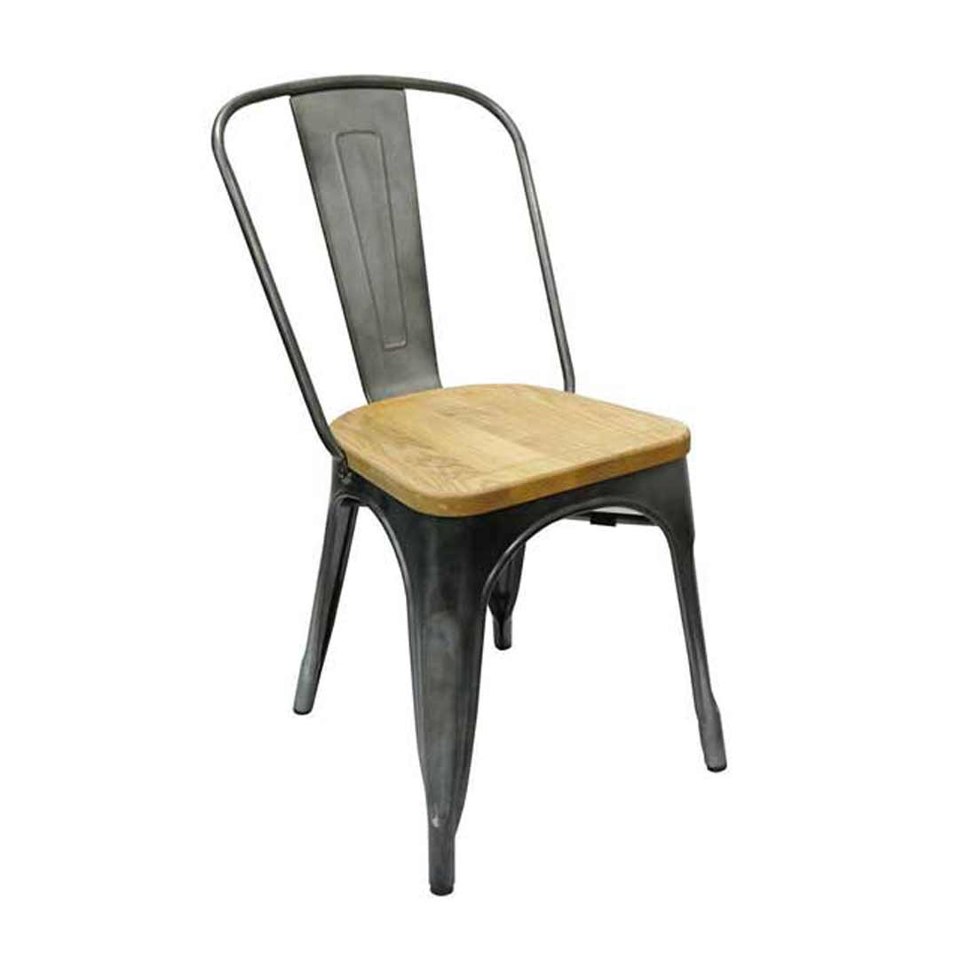 Tolix Dining Chair w Ash Seat Replica Pauchard Marais Gun MetalDining Chair w Ash Seat Replica Pauchard Marais Gun Metal. Marais A Chair. Home Design Ideas