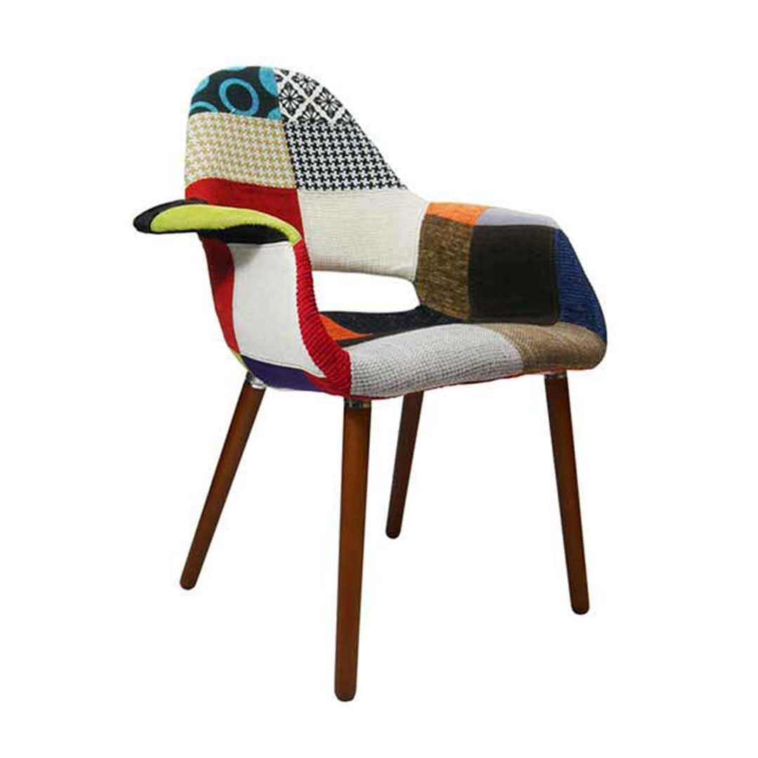 Organic Replica Eames Patchwork Padded Armchair Cafe Lounge Chair