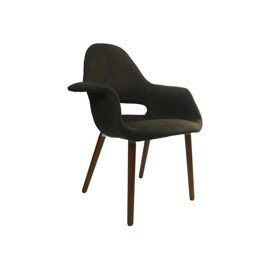 Organic eames replica padded armchair cafe lounge chair brown for Eames armchair replica