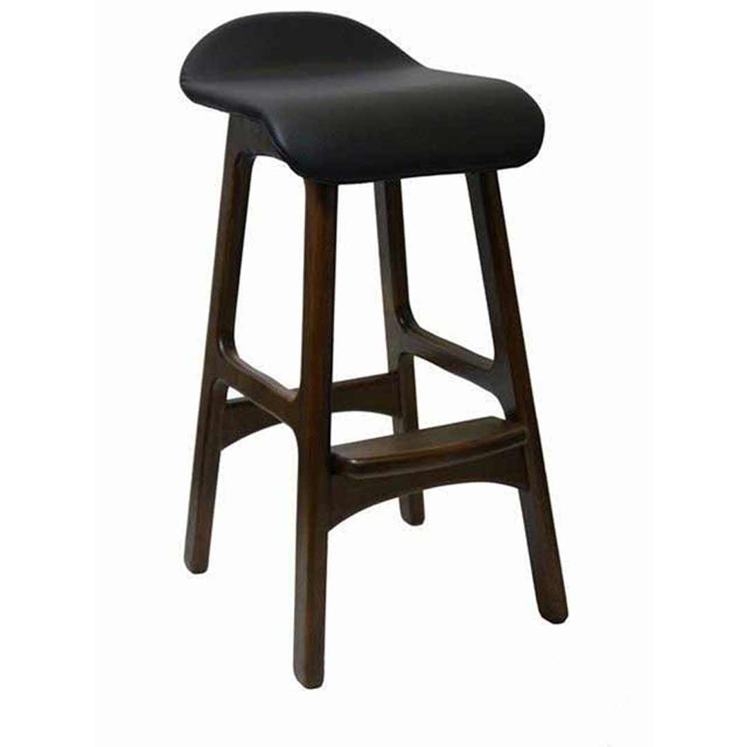 Anakee replica erik buch danish timber bar stool chocolate - Erik buch bar stool ...