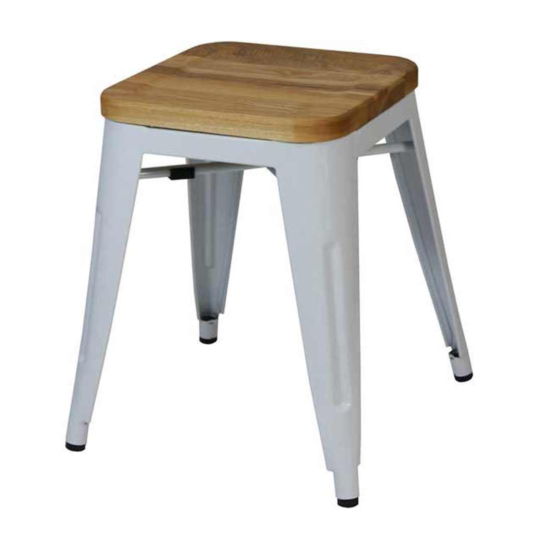 Tolix stool w ash seat replica pauchard marais 460mm white - Tolix marais barstool ...