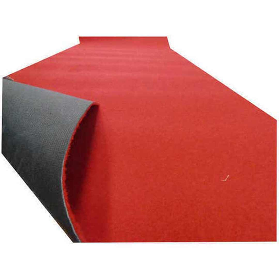 Party Red Rubber Backed Runner 135cm Wide Seconds