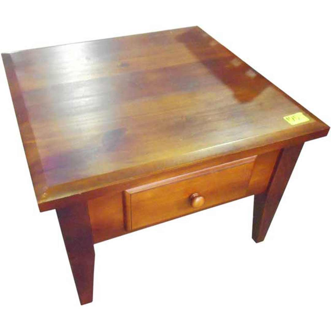 shopsoiled lamp table pine timber square side tables