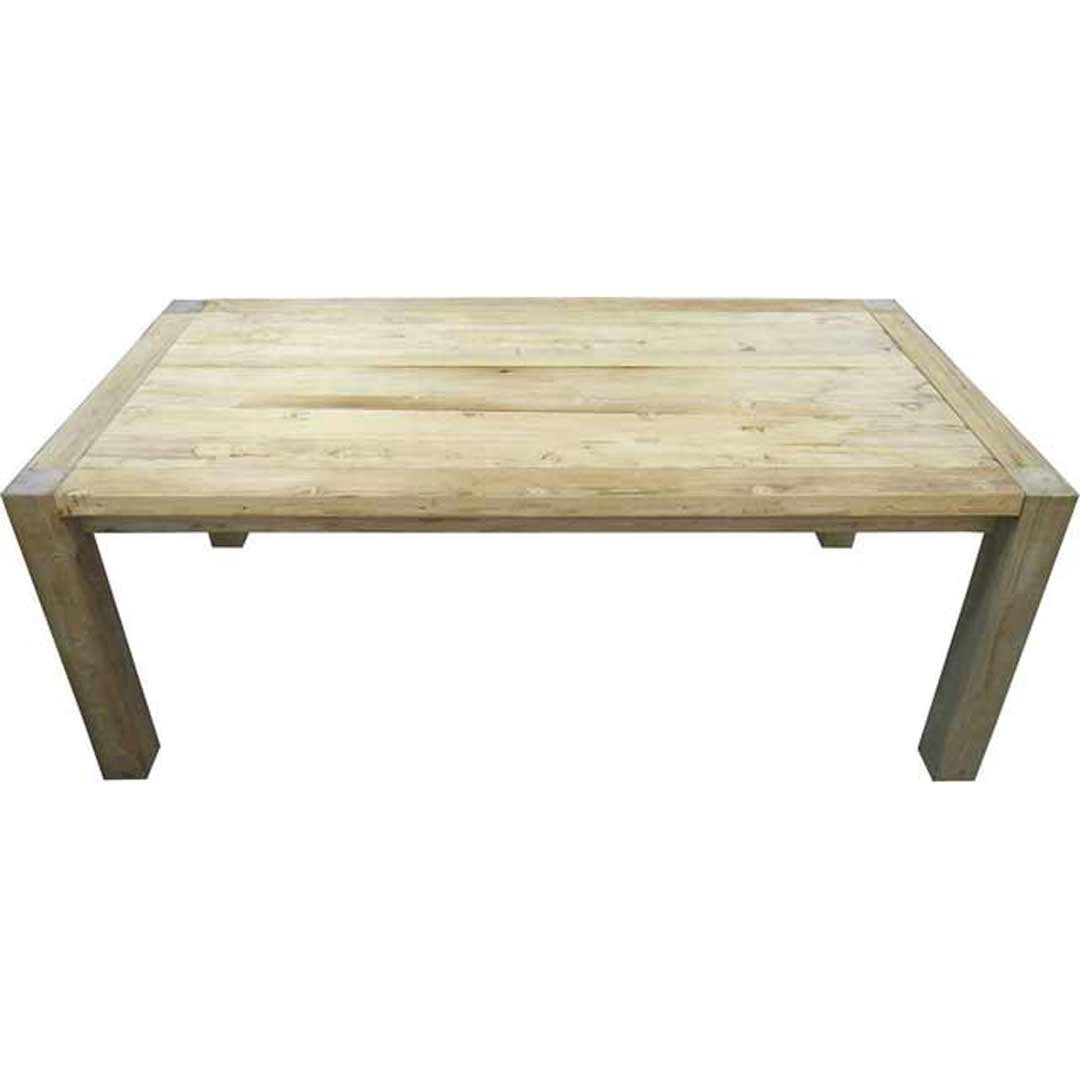 Rustic Elm Timber Dining Table 1980mm x 1000mm