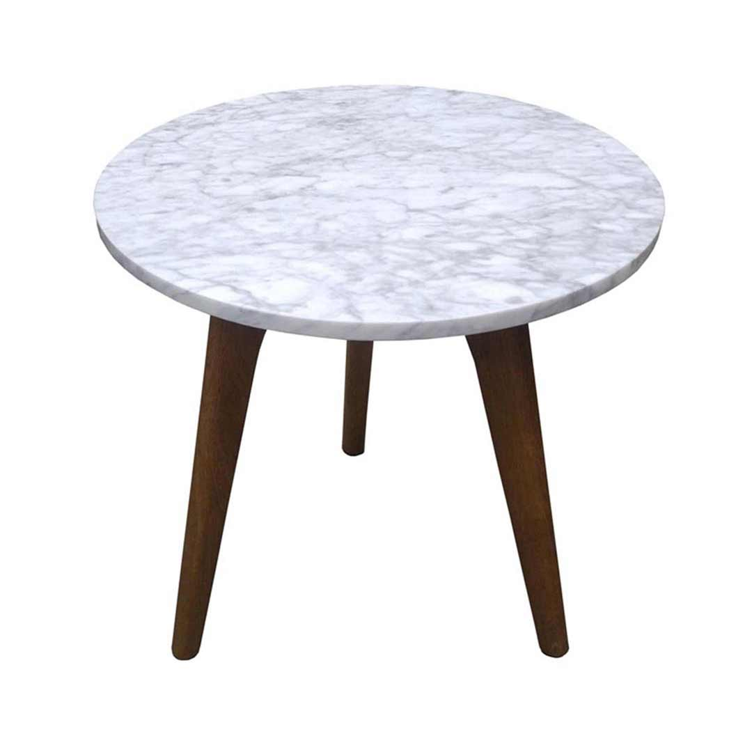 Marble Coffee Table Ebay: New Round Marble Side Coffee Wine Table Scandi Design