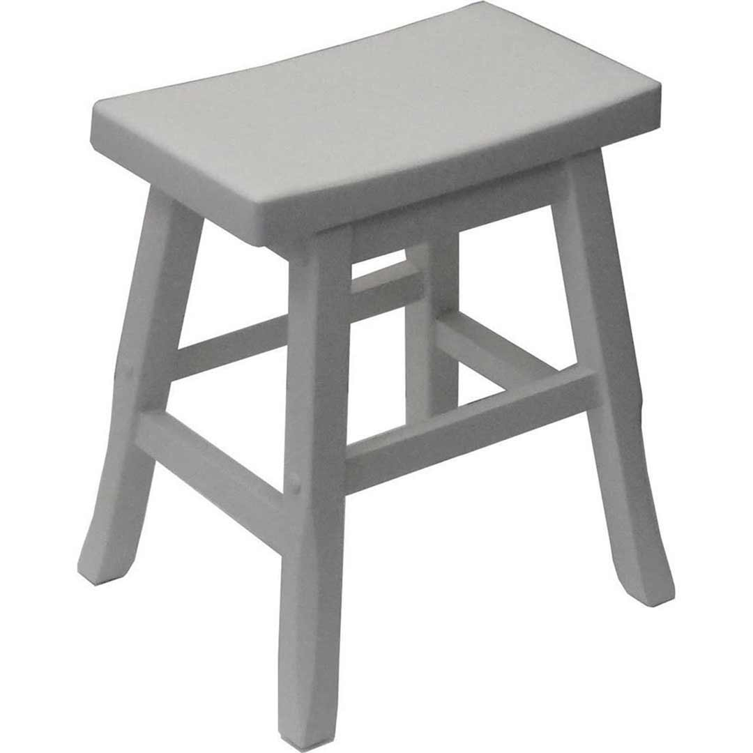Pagoda Timber Dining Stool 450mm White