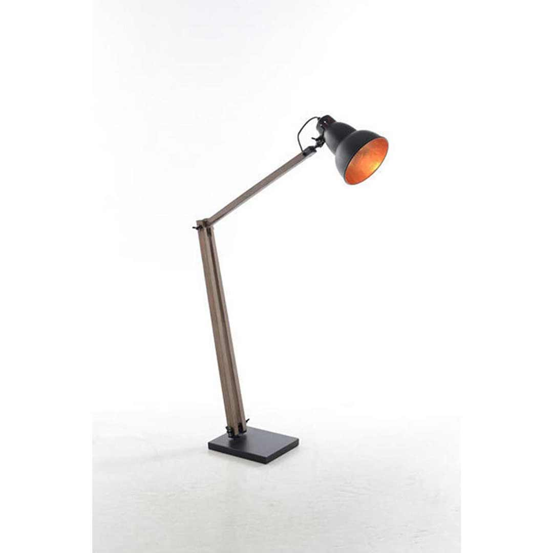 Industrial Matte Black Copper Gourd Floor Lamp 75090
