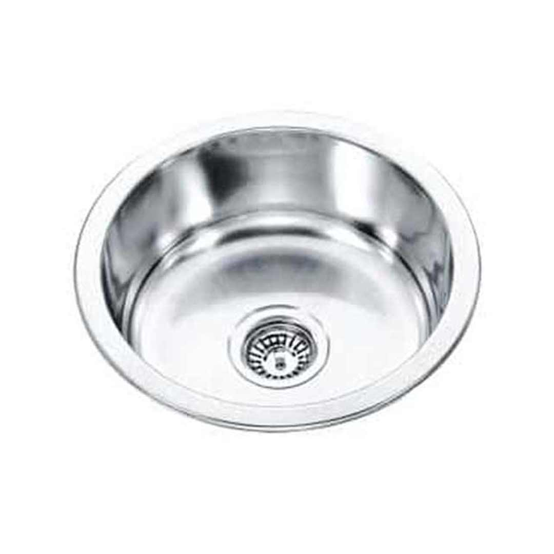 ECT Dante L45L Single Round Bowl Stainless Steel Sink