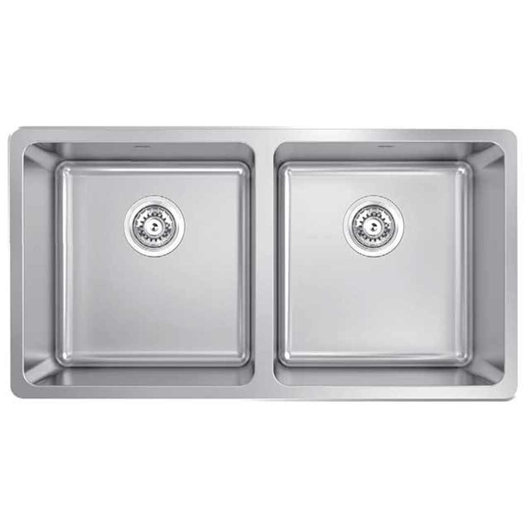 abey lago lg200 inset double bowl kitchen sink - Abey Kitchen Sinks