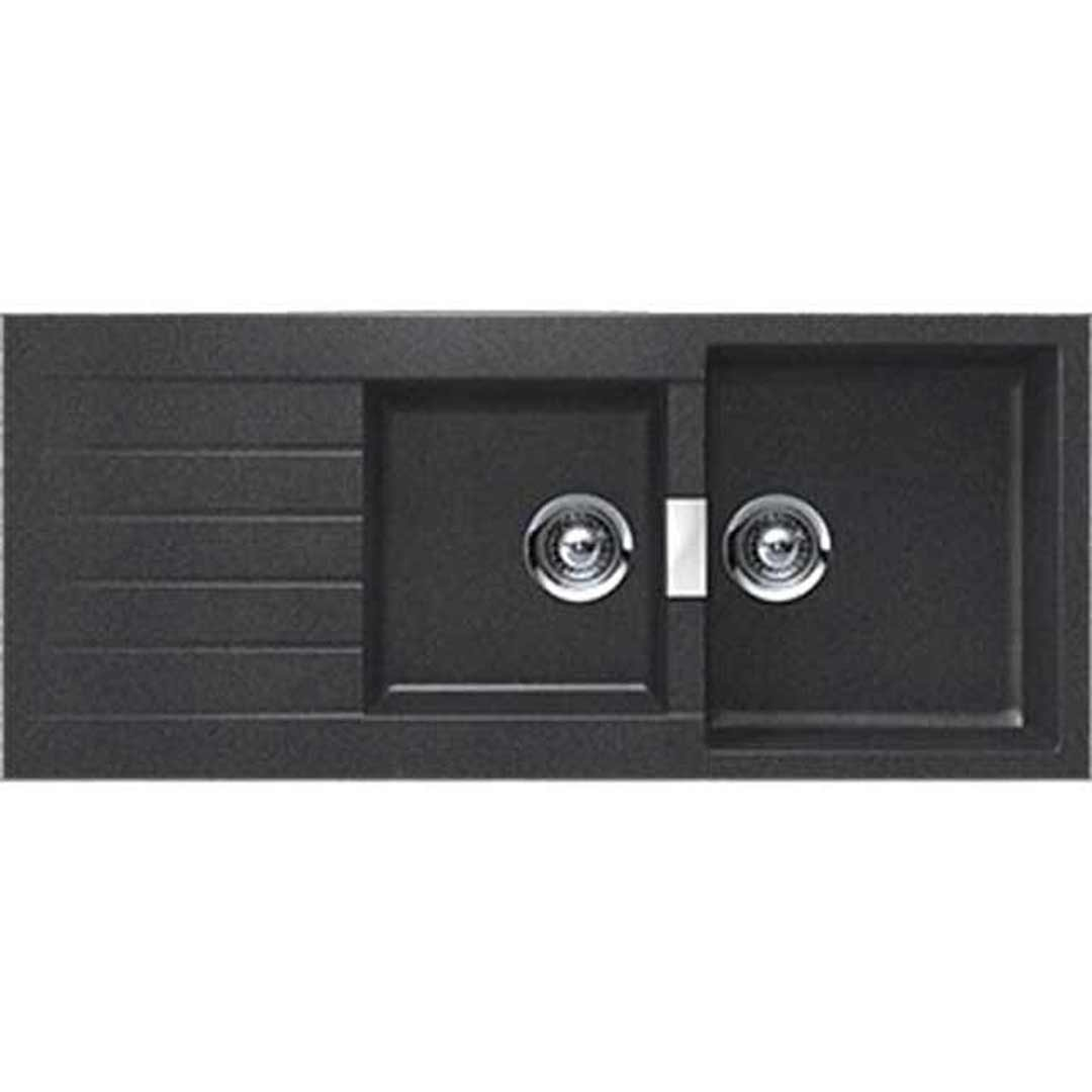 abey d200b schock designer kitchen sink black - Abey Kitchen Sinks