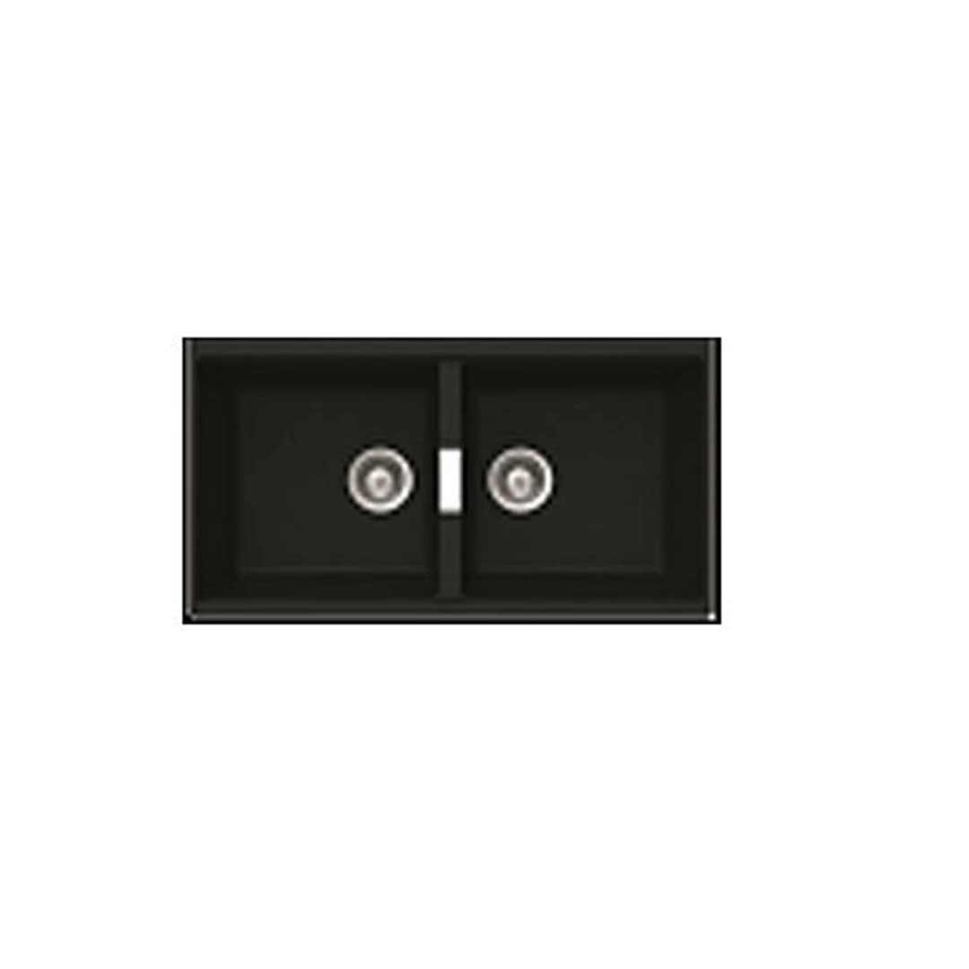Abey N200UB SOHO Schock Double Bowl Undermount Sink Magma