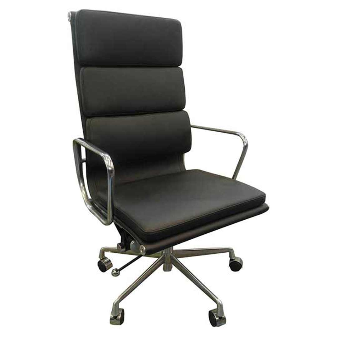 manta high back executive italian leather office chair black