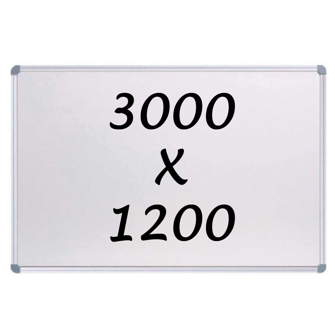 KR Commercial Magnetic Whiteboard 3000mm x 1200mm