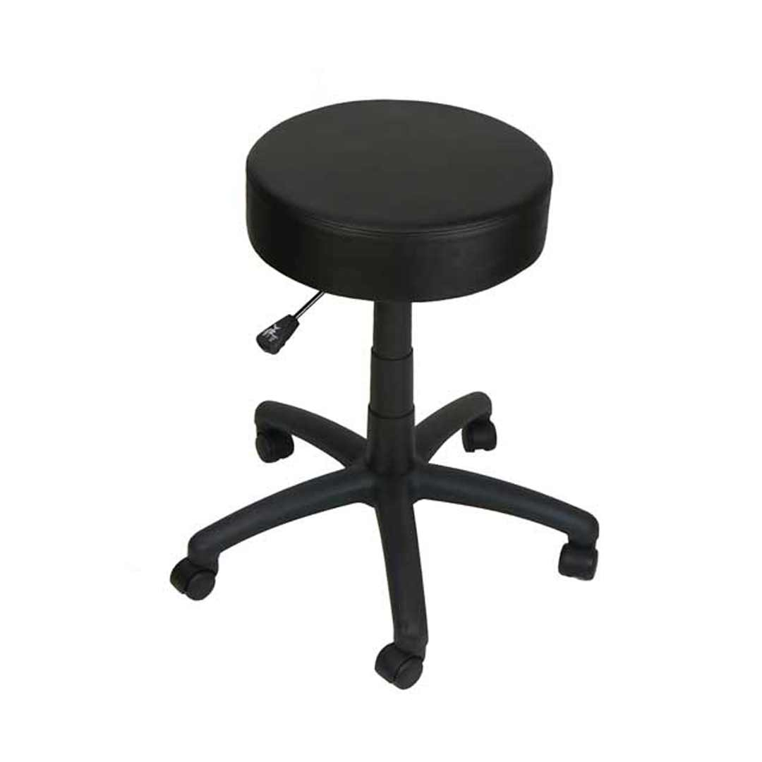 Rona Standard Gas Lift Bench Seat Mobile Stool Black