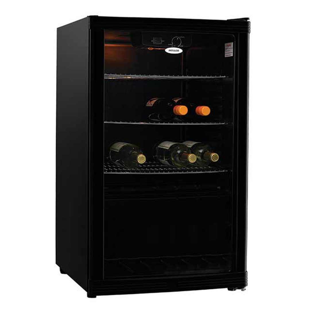 Heller 115l Wine Bar Fridge Beverage Cooler Black Hbc115b