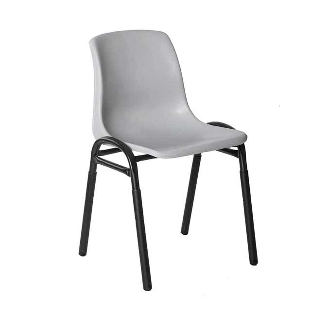 Plastic Metal Stacking Chair For School Hall Site Office