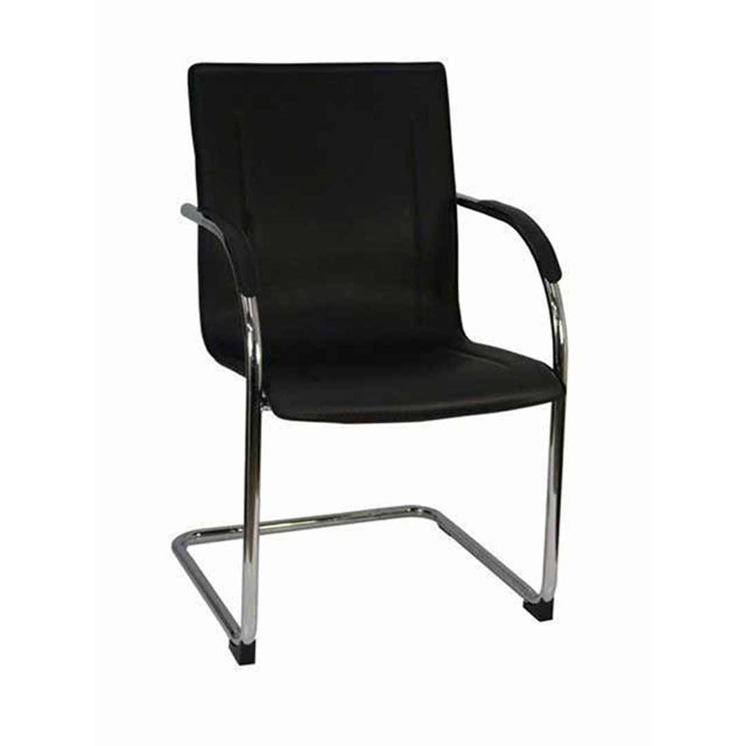 Suzanna Visitors Office Chair Chrome Black