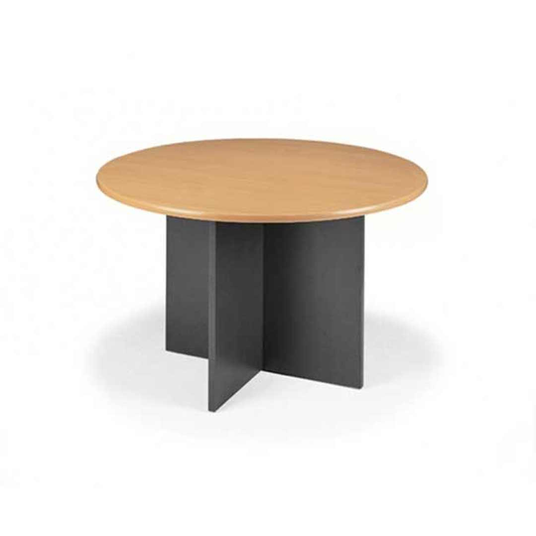 Merlin X base Meeting Table Select Beech Ironstone 900 W x 900 D x 720mm H