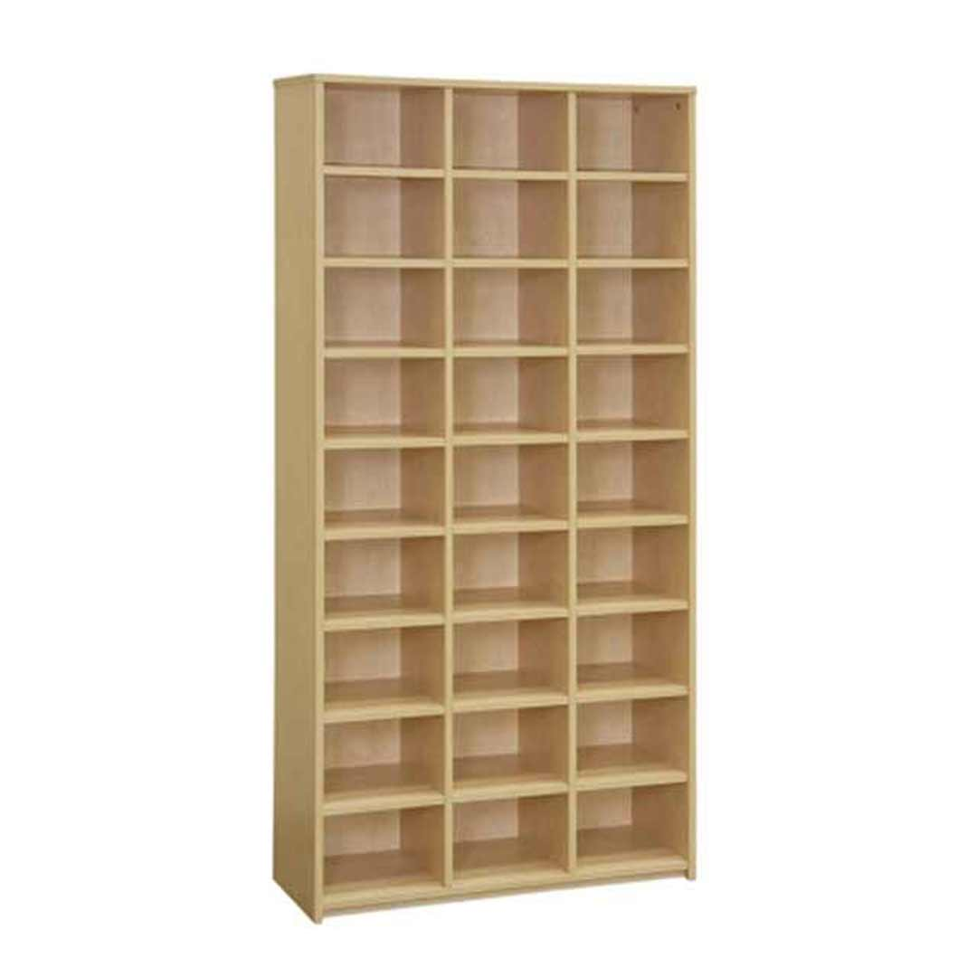 Merlin 27 Hole Pigeon Hole Bookcase Curly Beech 900 W x 330 D x 1800mm H