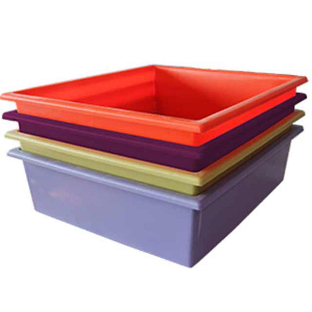 Tote Boxes Educational Furniture Waterproof Portable Storage Containers Colour 425 x 370 x 120mm H