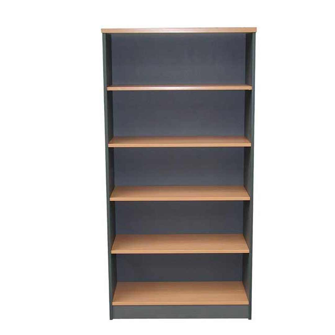 Swan Book Case 1800m x 900mm bookcase Beech/Charcoal