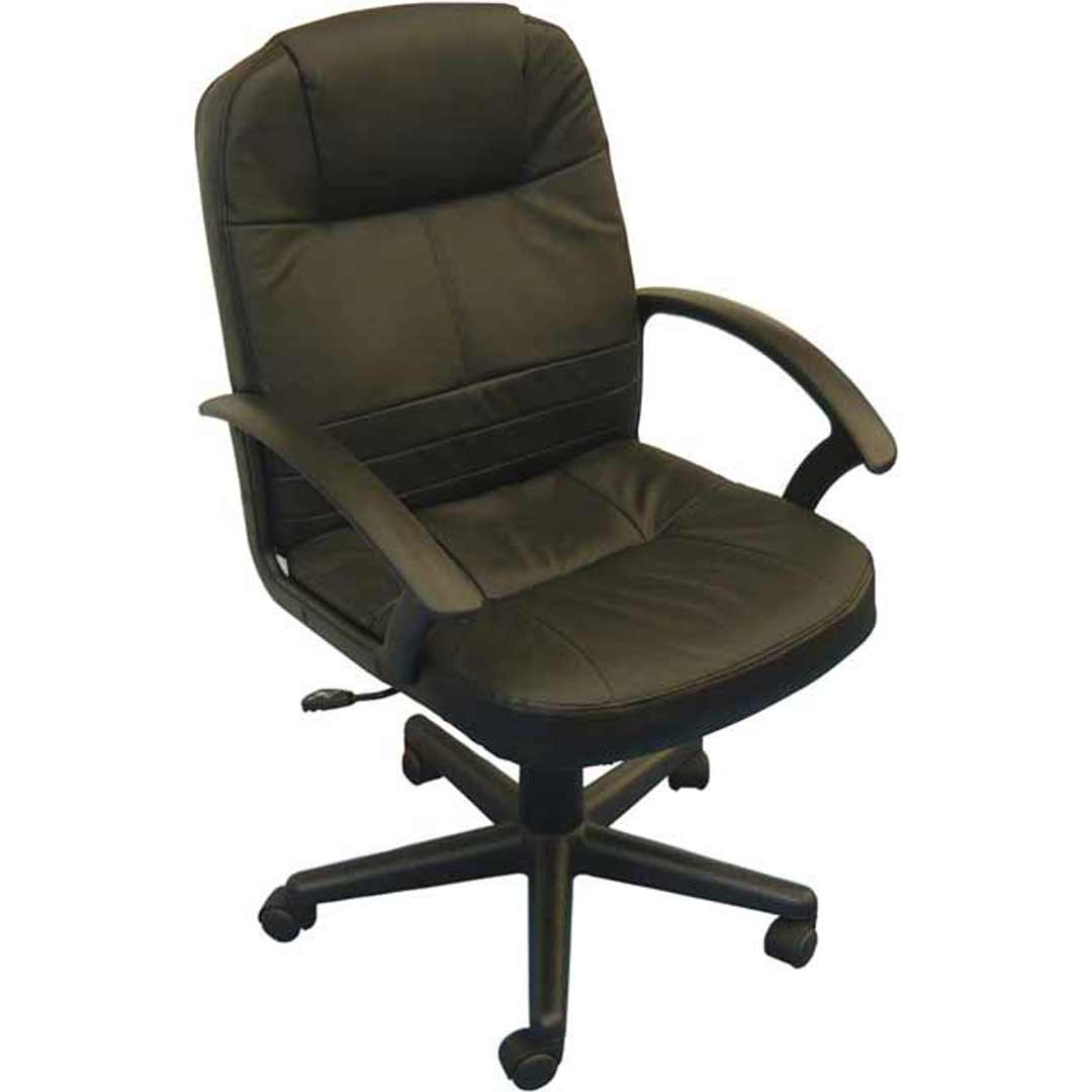 Dover Swivel Gaslift Office Chair - Black