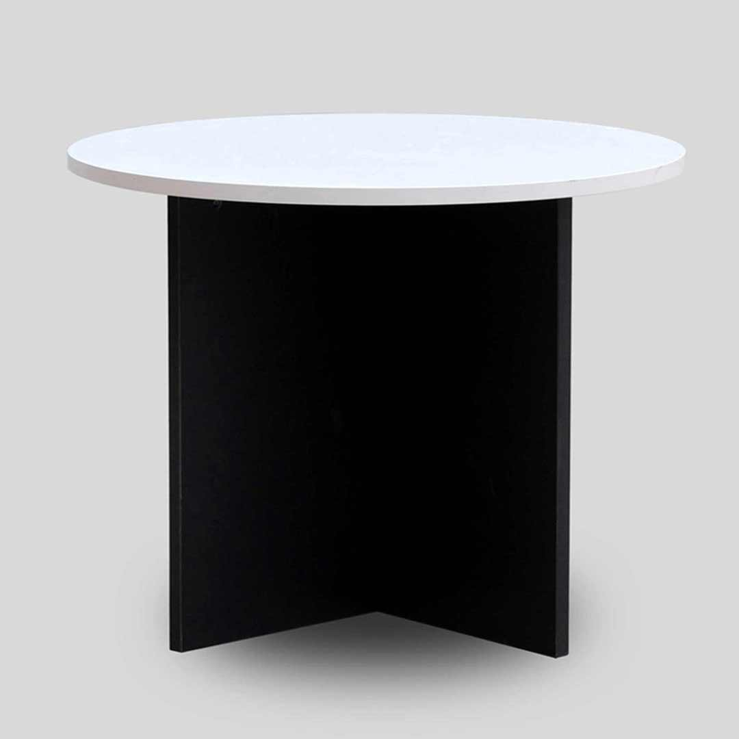 Swan Office Meeting Table 900mm Diametre Charcoal / White