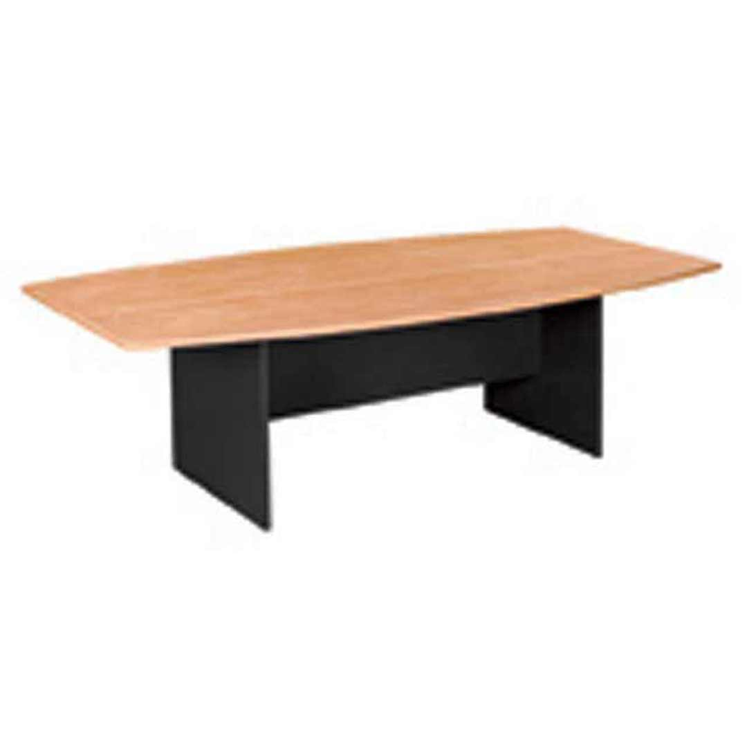 Swan Boardroom Conference Meeting Table 2400 x 1200mm Beech Charcoal