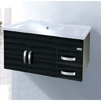 ECT Oceana SS90K Wall Mounted Vanity Cabinet Stainless Steel Black