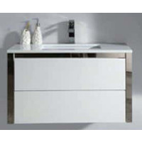 ECT Niko 90 Wall Mounted Vanity Cabinet Gloss White